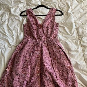 ASOS Embellish Jacquard Tulip Dress